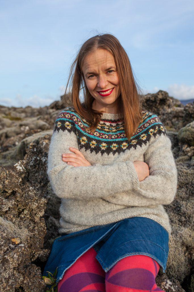 islantilainen villapaita neulontaohje