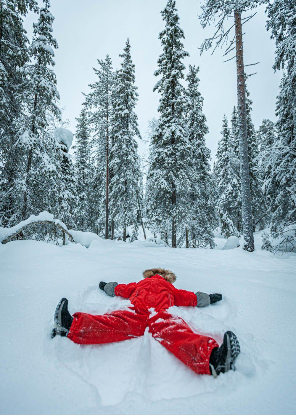 Talven riemu Ylläksen hiihtoladut