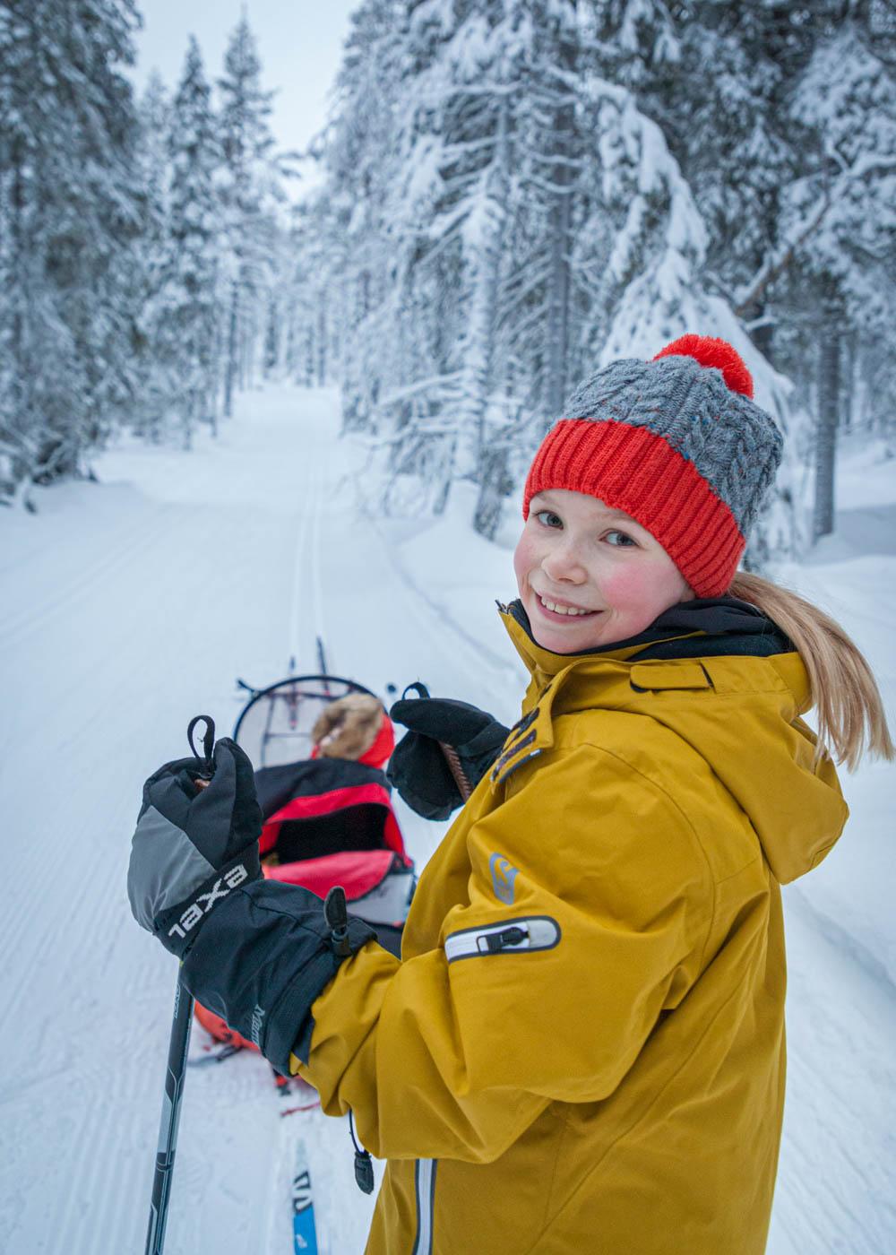 Ylläksen helpot hiihtoladut lasten kanssa
