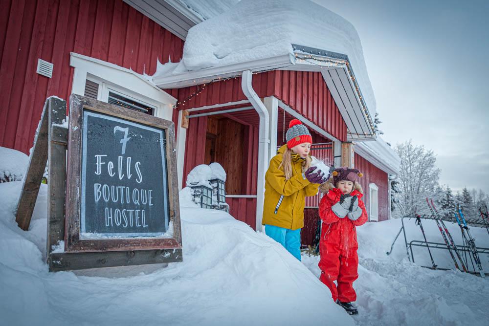 Ylläksen hiihtoladut lasten kanssa Äkäslompolo