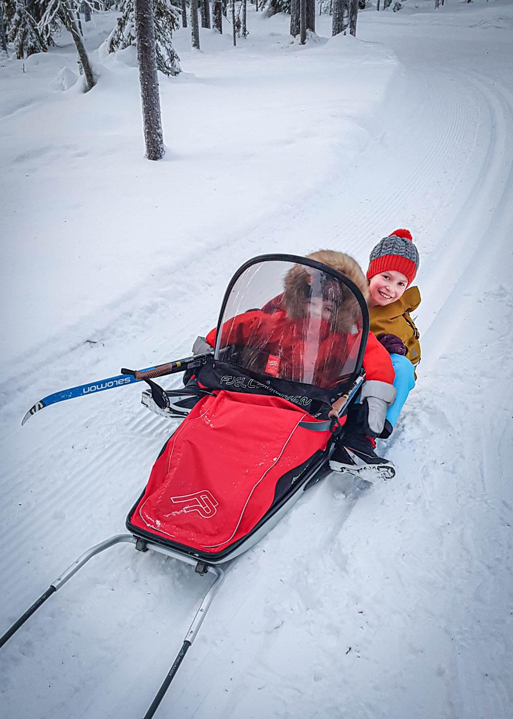 Ylläksen hiihtoladut lasten kanssa vinkit