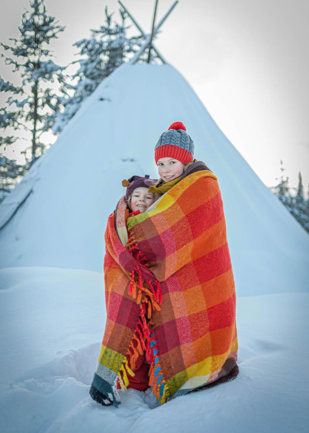 Ylläs hiihtolatu lasten kanssa