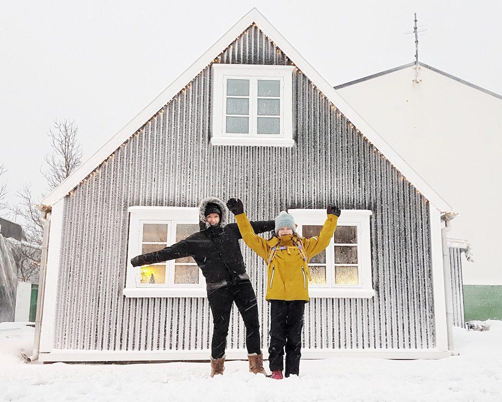 koti islannissa länsivuonot talvi