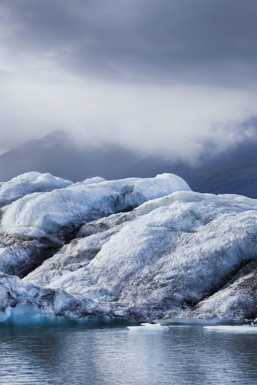 Islannin kartta jäätikkö