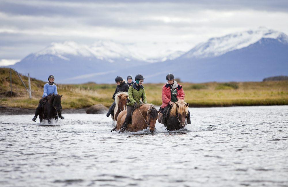 joen ylitys islanninhevosvaellus