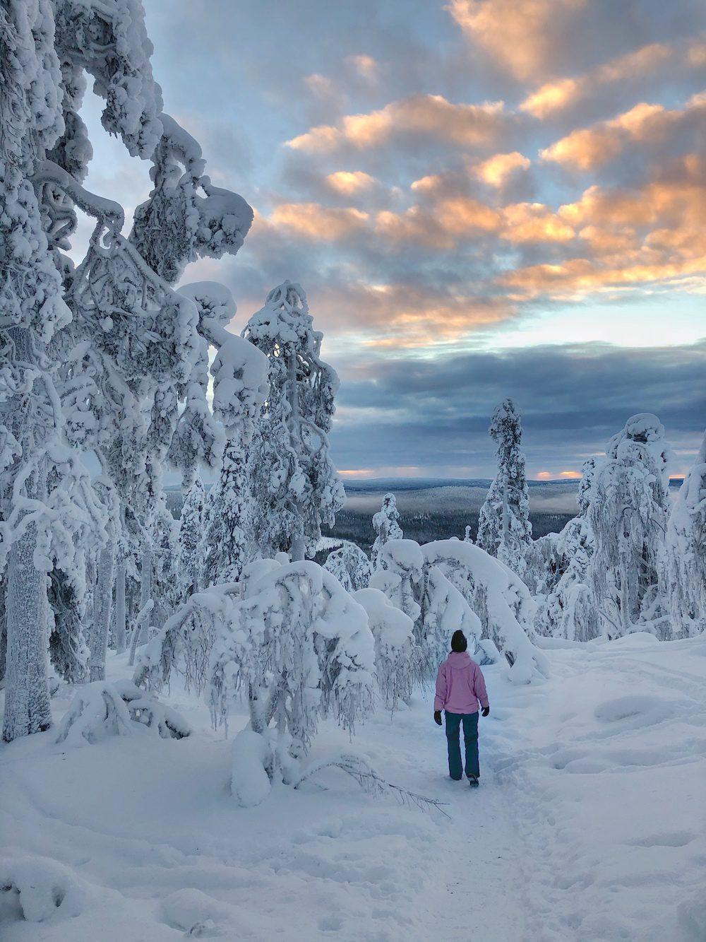 kuer tunturin vaellus talvella ylläksellä