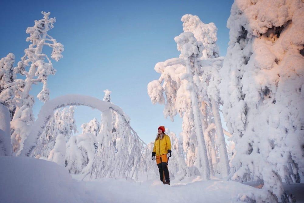 kuer tunturin vaellus talvella