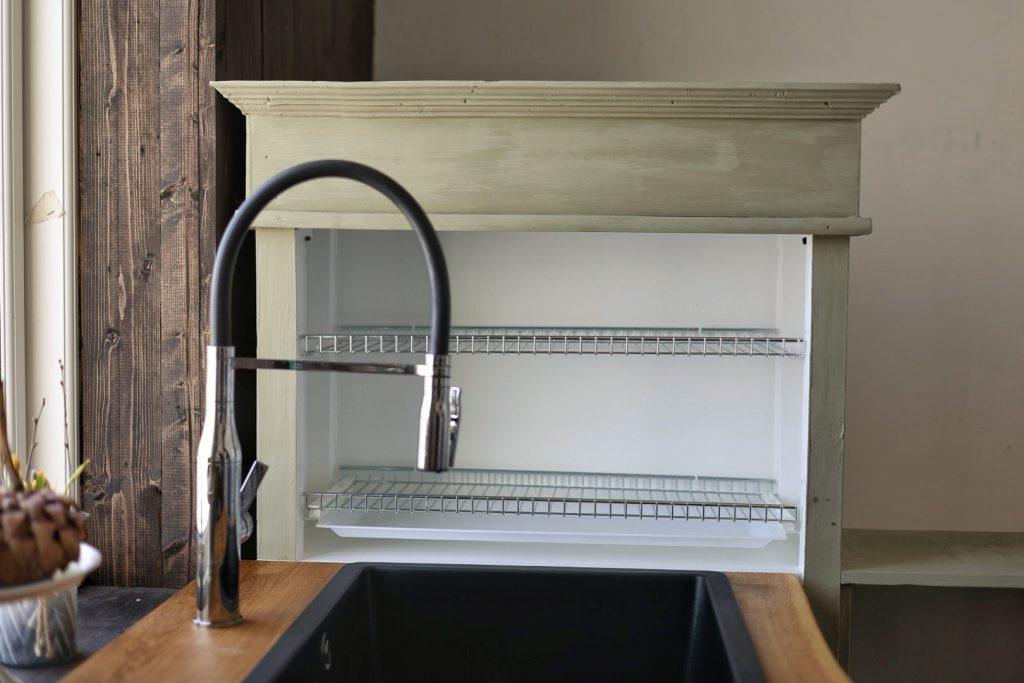 keittiöremontti itse rakennettu astiankuivauskaappi