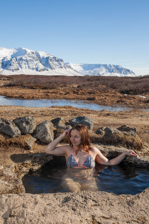 islannin luonnon uimapaikat Landbrotalaug